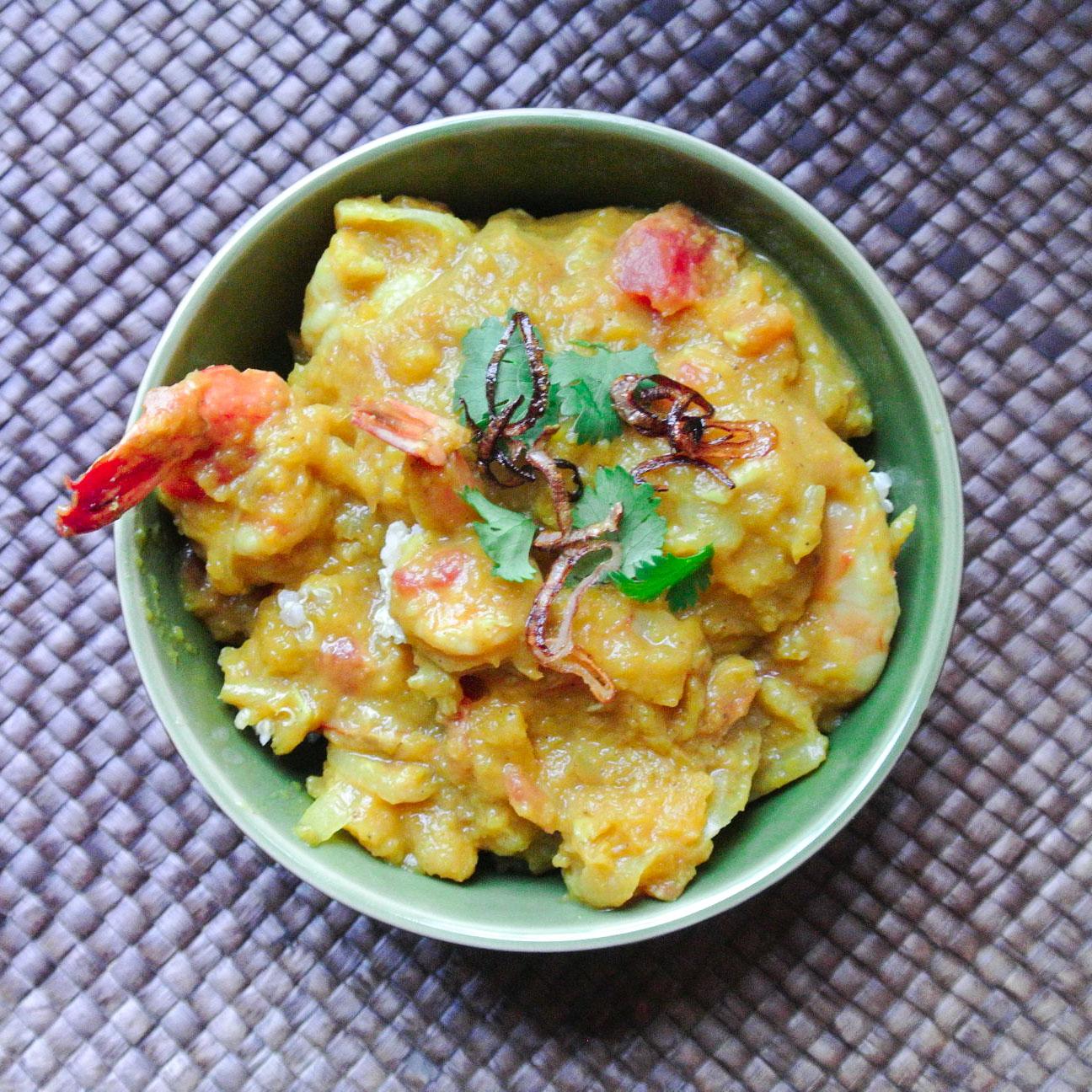 Pumpkin Curry with Shrimp-4