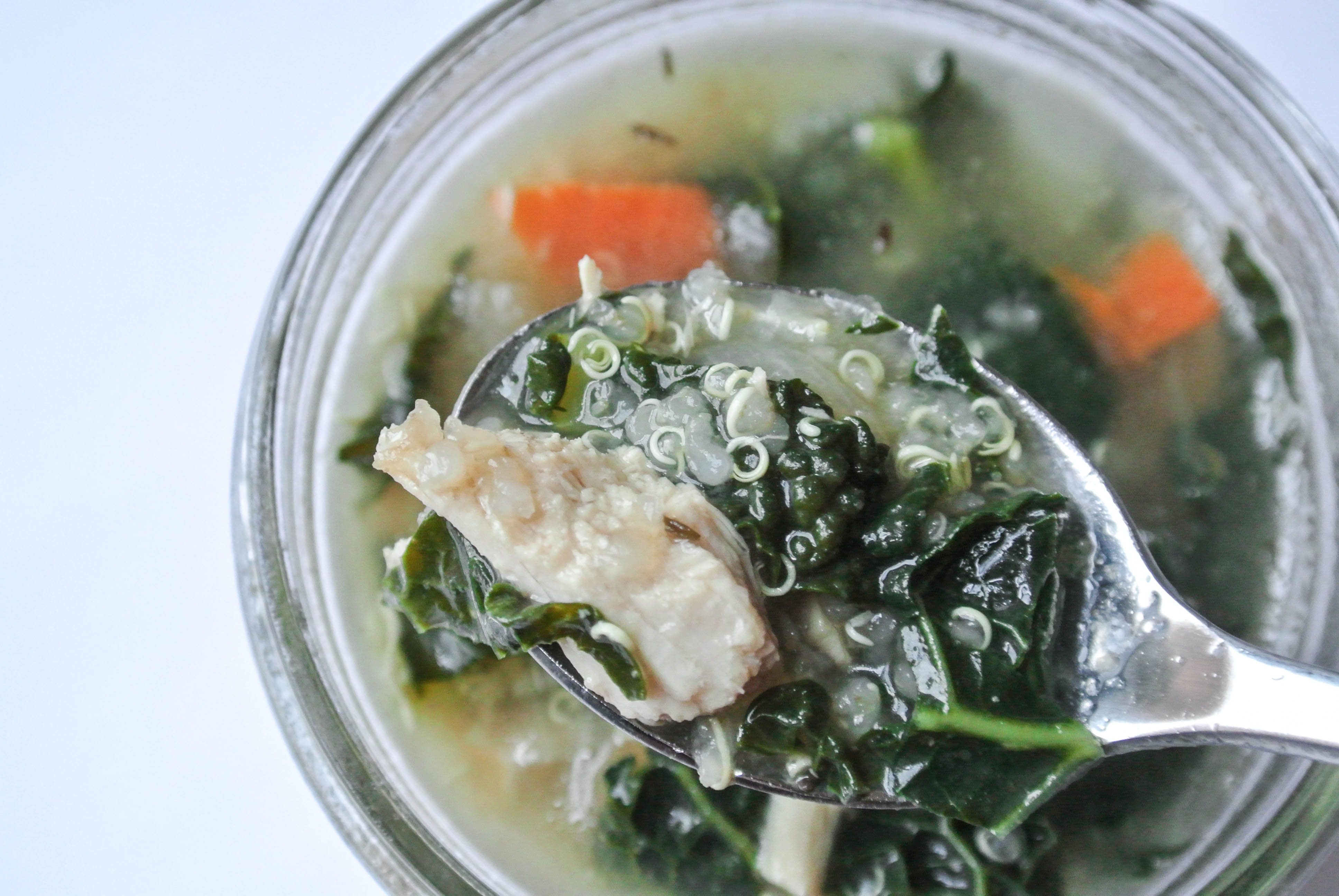 Chicken Soup With Kale And Quinoa